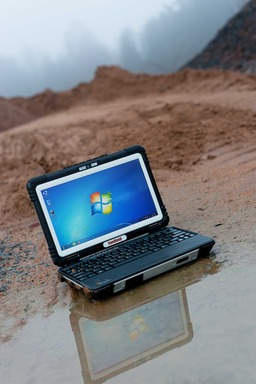 The ALGIZ XRW rugged notebook carries an IP65 rating against sand, dust & water. It meets stringent MIL-STD-810G military standards for withstanding humidity, vibration, drops and extreme temperatures