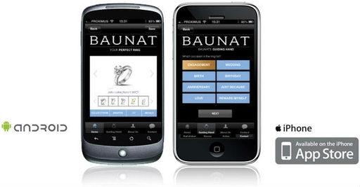 Smartphone App Baunat / Find the perfect ring(size) with app by Baunat
