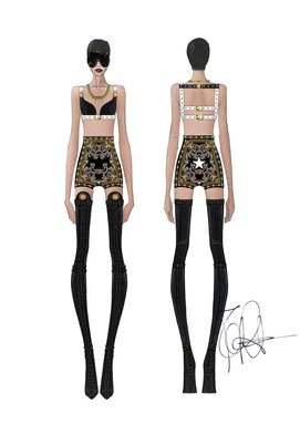 Givenchy Haute Couture by Riccardo Tisci sketche