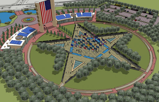 Proposed rendering of the American Fallen Warrier Foundation Memorial