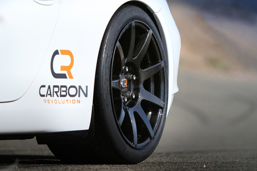 The first patented Carbon Revolution wheel to enter the marketplace is the CR-9, a full one-piece carbon fiber product, designed with the use of sophisticated computational modeling techniques