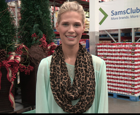 Lifestyle and DIY expert, Brooke Peterson as part of the all-star squad of Sam's Club Cheer Guides