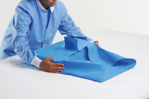 Faster. By design. Smart-Fold Wrap's pull tabs & wing design make aseptic unwrapping & presentation quicker than ever. Smart-Fold Wrap cuts training time by 43% & is 55% faster to unwrap.
