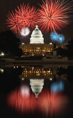 Viewers are front and center for the greatest display of fireworks anywhere in the nation during PBS's live broadcast of A CAPITOL FOURTH Thursday, July 4 at 8 p.m.   Credit: Courtesy of Photosearch.c
