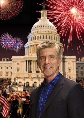 Two-time Emmy Award-winner Tom Bergeron returns to the West Lawn of the U.S. Capitol  to host  A CAPITOL FOURTH broadcast live on PBS Thursday, July 4 at 8 p.m.  Credit:  Capital Concerts
