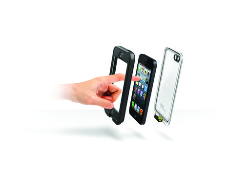 LifeProof nüüd for iPhone 5 – the only waterproof, drop-proof case for the iPhone 5 without a screen cover.