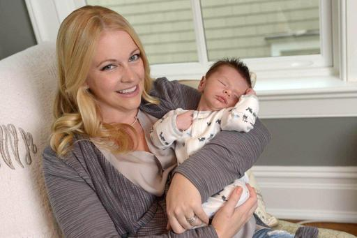 Melissa Joan Hart partnered with Merck for Mothers to share the birth story of her new baby Tucker at Facebook.com/MerckforMothers to help women have a safe pregnancy and childbirth