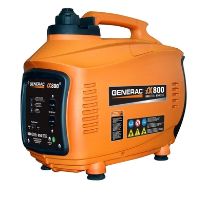 The Generac iX generator has a durable, lightweight, compact design that provides clean and stable power, safe for computers and other sensitive electronic devices.