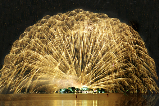 Fireworks Festival of the 14th West Lake International Expo Hangzhou China