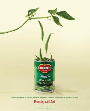 "One of Del Monte's ""Bursting  with Life"" print advertisements, which will run through March 2013."