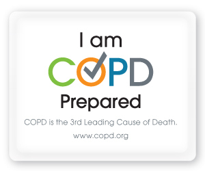 Download and display the ''I am COPD Prepared'' button on your website, social streams or other online outlets to show everyone that you are ''COPD Prepare''
