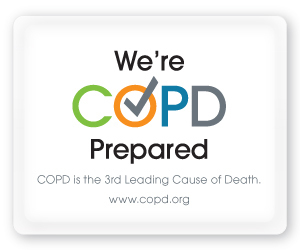 Download and display the ''We are COPD Prepared'' button on your website, social streams or other online outlets to show everyone that you and your associates are ''COPD Prepared''