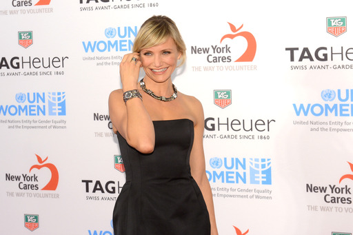 Cameron Diaz shows off the new TAG Heuer LINK Lady Trilogy Set