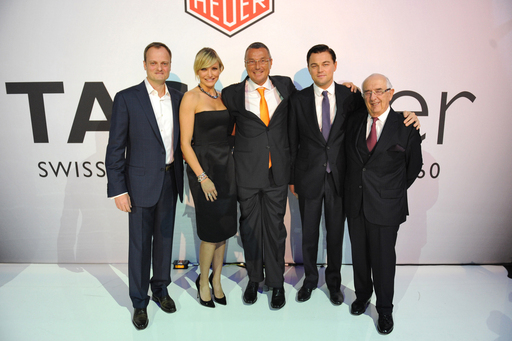 TAG Heuer Executives with Cameron Diaz and Leonardo DiCaprio