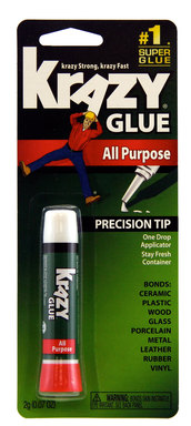Krazy Glue's incredibly strong and quick-drying formula can help reconnect a car's cup holder or even fix rubber molding.