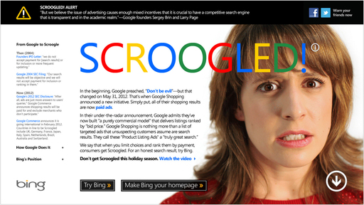 Find out how Google Scroogles you at scroogled.com