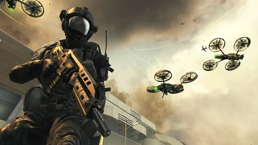 Call of Duty: Black Ops II features technology from 2025. This near future setting allows players to experience the battle space like never before with the use of unmanned or remotely controlled drone