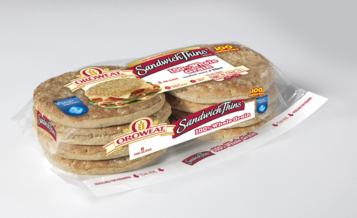Oroweat 100% Whole Grain Sandwich Thins rolls