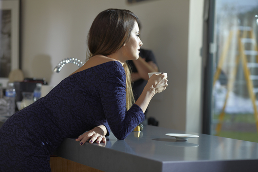 Actress Penelope Cruz on the set of the new Nespresso The best café. Yours. Ad Shoot