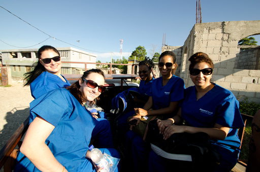 Dentists and Hygienists on the Aspen Dental team travel to the clinic in Jacmel