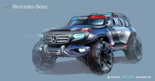 "The ""Mercedes-Benz Ener-G-Force,"" assists future law enforcement with its structural and technological advances as part of the 2012 LA Auto Show Design Challenge."
