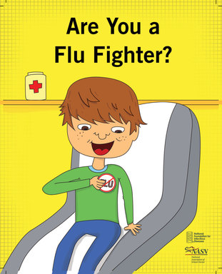 ''Are You a Flu Fighter?'' Coloring Book Cover