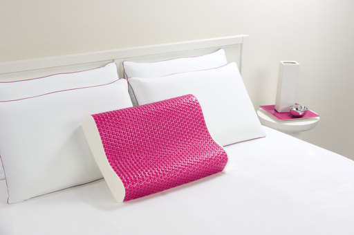 Comfort Revolution Frosted Pink Bubbles Hydraluxe Contour Pillow