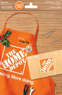 Home Depot gift cards make the perfect present for everyone on your Christmas list. Visit a Home Depot store or go online at www.homedepot.com/giftcards to see the great holiday selection.