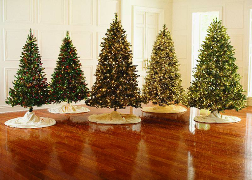 Martha Stewart pre-decorated Christmas trees come in a variety of styles and sizes. Many come complete with LED lights that are 65% more energy efficient than incandescent bulbs . Go to www.homedepot.com/holiday for more information.