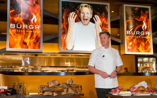 Celebrated Chef Gordon Ramsay shares menu highlights inside his new restaurant Gordon Ramsey BurGR which opened Dec 22 inside Planet Hollywood Resort & Casino in Las Vegas.
