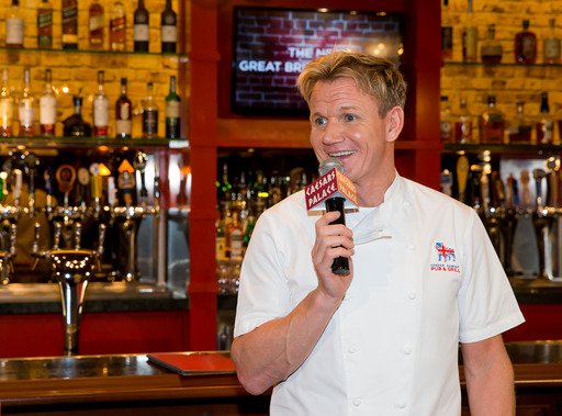 In honor of the Dec. 18 opening of Gordon Ramsay Pub & Grill inside Caesars Palace, Chef Gordon Ramsay hosted a traditional Sunday 	roast. The chef opened two restaurants in Las Vegas within a week.