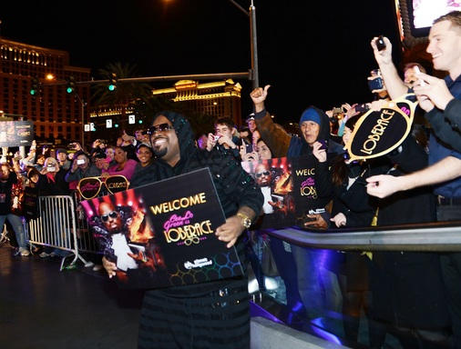 CeeLo Green interacts with fans as he arrives at Planet Hollywood Resort & Casino on February 26, 2013 in Las Vegas, Nevada. (Photo by Denise Truscello/WireImage)