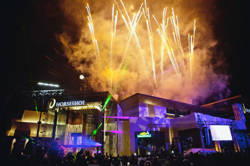 Horseshoe Cincinnati opens to the public with spectacular fireworks display on March 4, 2013.