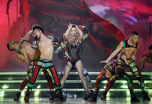 "Britney Spears performs during the opening night of her new Las Vegas residency, ""Britney: Piece of Me,"" at Planet Hollywood Resort & Casino Photo   Photo Credit: Denise Truscello"
