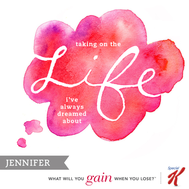 Life: Jennifer shares what she hopes to gain by managing her weight in 2013 on the Gains Project at SpecialK.com.