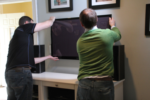 Securing your TV to the wall is a safe solution.