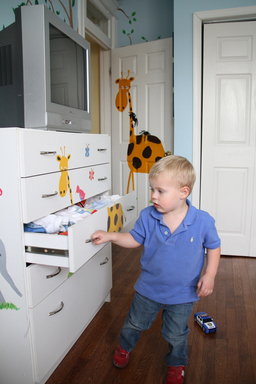 Curious and determined by nature, kids can easily pull and climb dresser drawers to reach a TV.