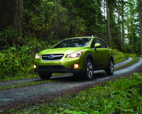 The all-wheel drive Subaru XV Crosstrek Hybrid, the brand's first-ever production hybrid vehicle