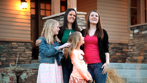 Strength through tragedy: Ashlee and daughters Rylee, Macee and Preslee keep Reb alive in their hearts by sharing stories and memories of his easy laugh and constant smile.