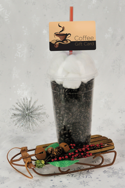 Recreate a favorite specialty drink to give a coffee gift card.