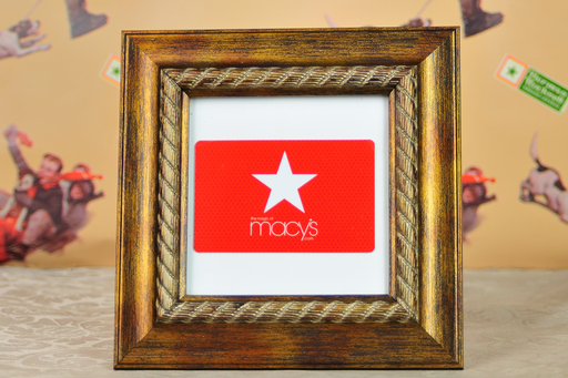 A gift card in a frame can be a work of art.