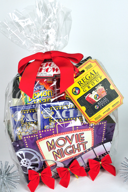 Attach a movie theater gift card to a bucket of snacks.