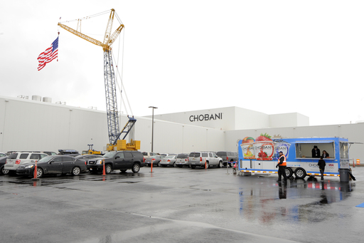 The CHOmobile outside of Chobani's new yogurt manufacturing plant, Mon., Dec. 17, 2012, Twin Falls, ID. Photo by Jack Dempsey/Invision for Chobani