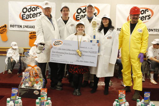 Casey Adams from Bristol, CT wins the 38th Annual National Odor-Eaters® Rotten Sneaker Contest®.
