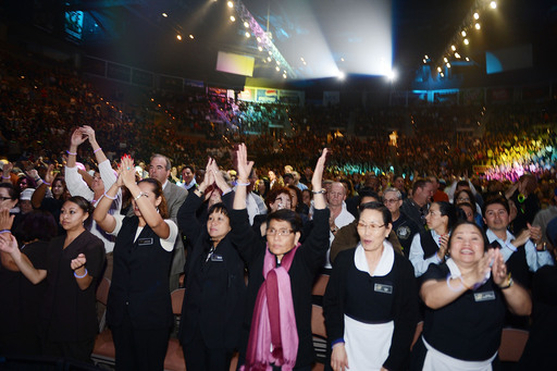 70 employees performed before thousands of peers, uniting 50,000 southern Nevada team members from MGM Resorts' family of properties on stage and in the audience for Inspiring Our World.
