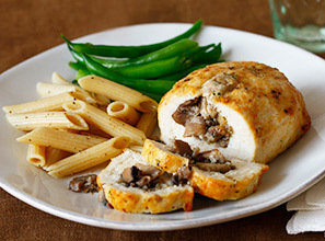 Stuffed Chicken Breast/Mushroom
