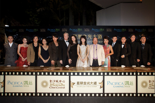 A dazzling cast of celebrities participate in a handprint ceremony Saturday evening at Sands Cotai Central, to be incorporated into an 'Avenue of Stars' walkway.
