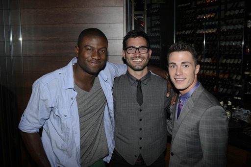 Sinqua Walls, Tyler Hecklin and Colton Haynes party at Marquee, The Star Sydney