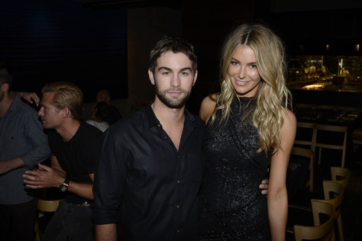 Chace Crawford and former Miss Universe Jennifer Hawkins celebrate New Year's Eve in Sydney at Marquee, The Star