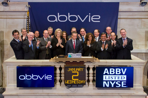 AbbVie launches as new biopharmaceutical company, rings 2013 NYSE opening bell